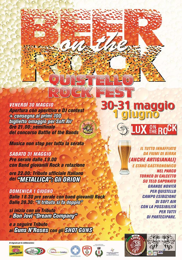 Programma ufficiale Quistello Rock Fest 2014