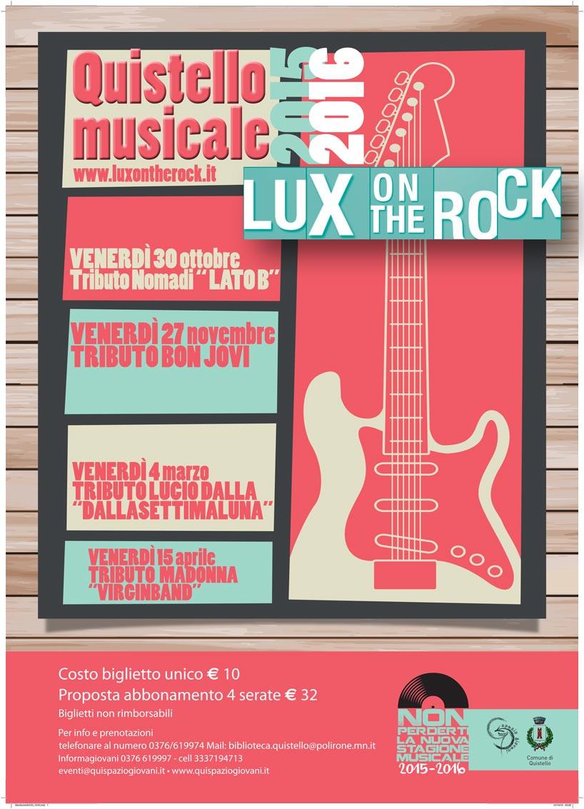 Concerti nell'edizione 2015/2016 della Rassegna musicale Lux on the Rock