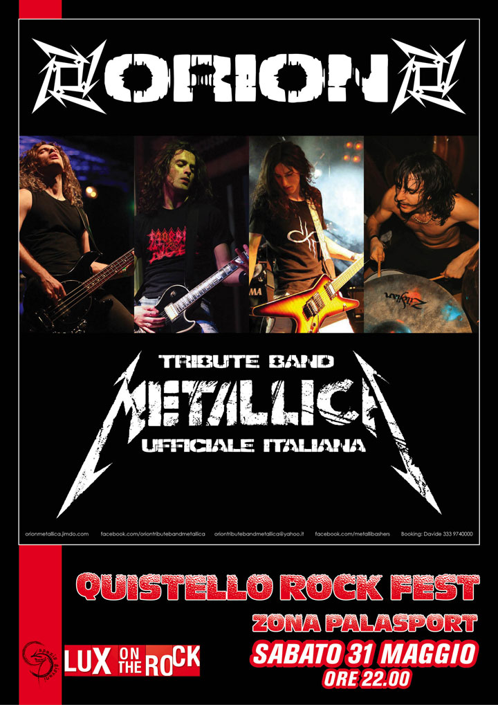 Orion, Tribute Band Metallica